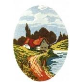 Гоблен-пейзаж 1346 р-ри 20/26,1/4,дмц конци