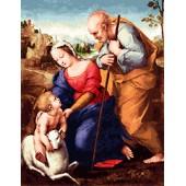 Гоблен-Рафаело Светото семейство,дмц конци, р-ри 37/52 1/4 с детайл