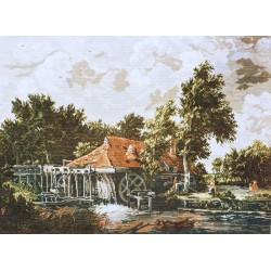 Гоблен-Холандска воденица р-ри 77/57,1/4,дмц конци