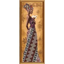 гоблен-HD2077 Африканка с лилия