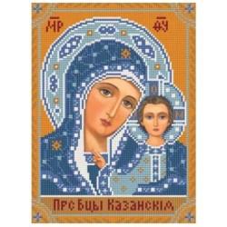 Гоблен-Казанска богородица с мъниста