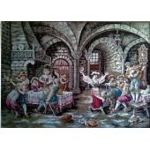 Гоблен-Веселите музиканти без рамка р-ри 118х79см. 54 цвята, 1:4